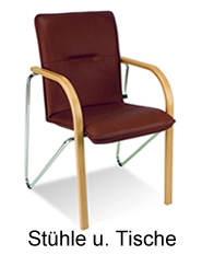 Bürostühle Besucherstühle so wie Klapptische, Konferenztische und Allzwecktische