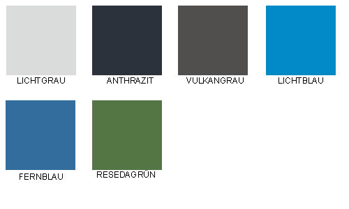 Farben für Spindtüren und Korbus