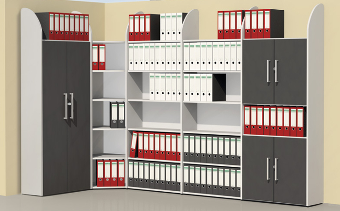 Büromöbel schrank  Holz Regal Schrank für das Büro - Büromöbel online | Fintabo.de