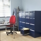 Preview: Hängeregistraturschrank blau