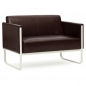 Preview: Lounge-Sofa Gunar - 2 Sitzer braun