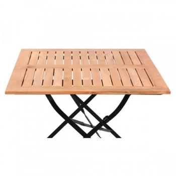 biergartentische 120 x 80 cm mit teakholzleisten kaufen. Black Bedroom Furniture Sets. Home Design Ideas