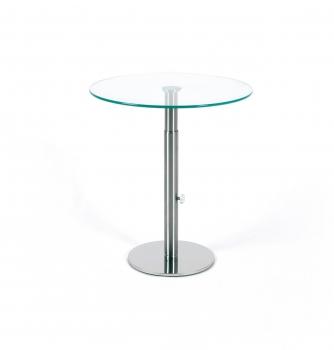 Glastische beistelltische stehtische tische mit glas for Beistelltisch glas rund edelstahl