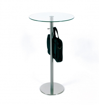 h henverstellbarer glastisch rund. Black Bedroom Furniture Sets. Home Design Ideas