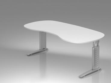 schreibtisch h henverstellbar f r b ros nierenform. Black Bedroom Furniture Sets. Home Design Ideas