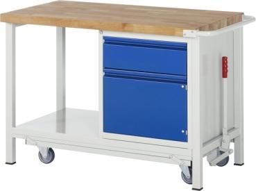 Rollbare Werkbank absenkbar für festen u. sicheren Stand ...