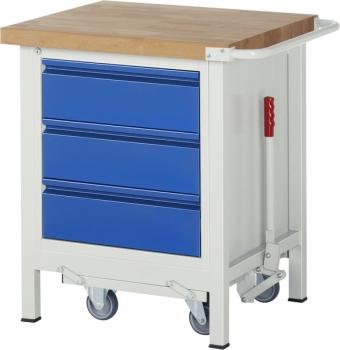 Werkbank fahrbar u. absenkbar - Werkbänke mit Rollen ...