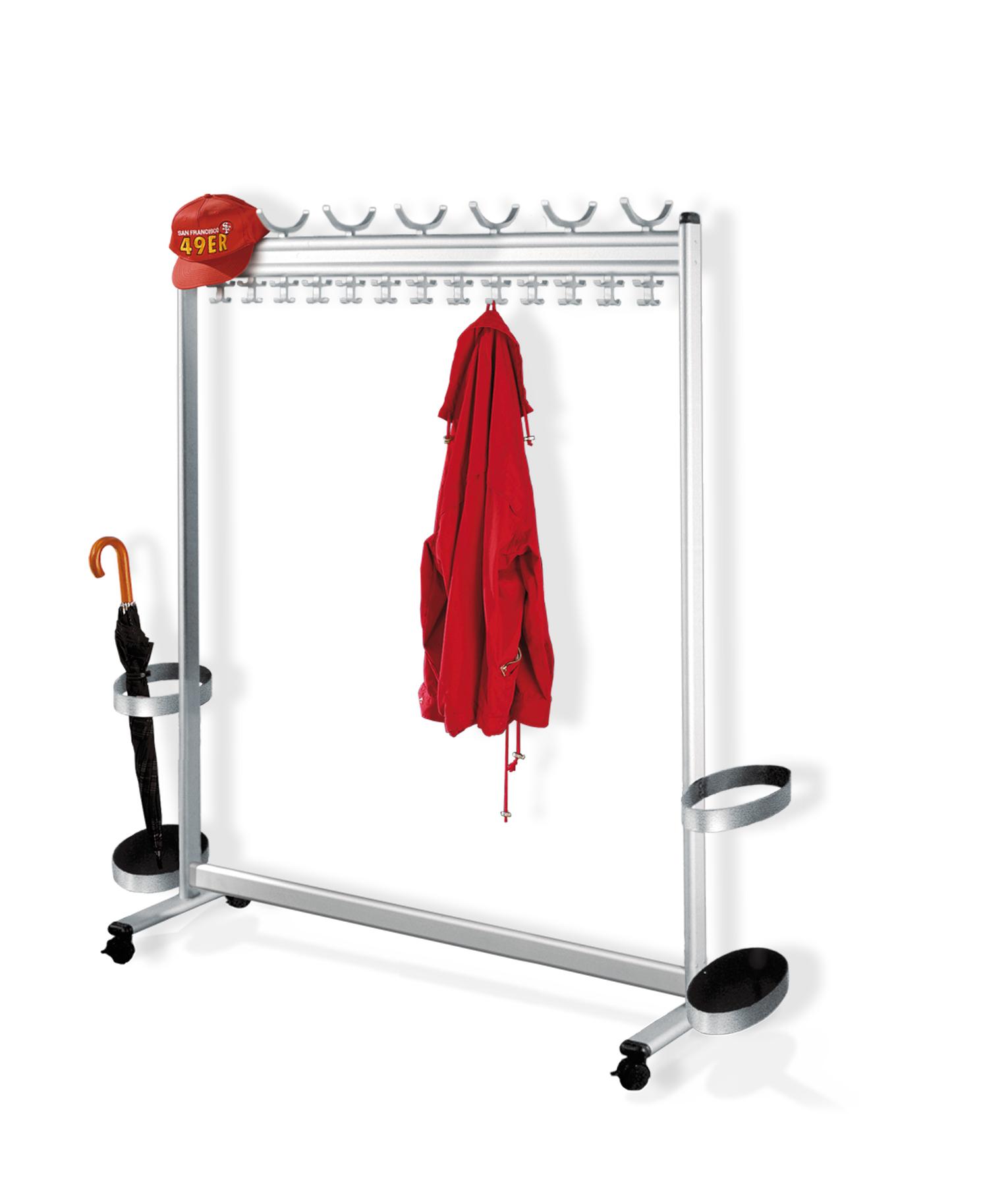 aluminium garderobe mit rollen versandkostenfrei kaufen. Black Bedroom Furniture Sets. Home Design Ideas