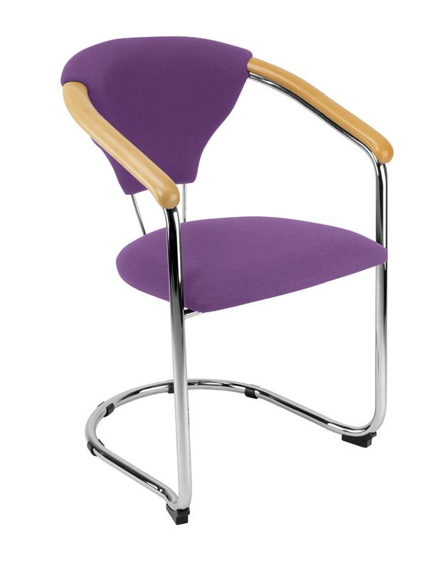 freischwinger mit design besucherst hle mit polster. Black Bedroom Furniture Sets. Home Design Ideas