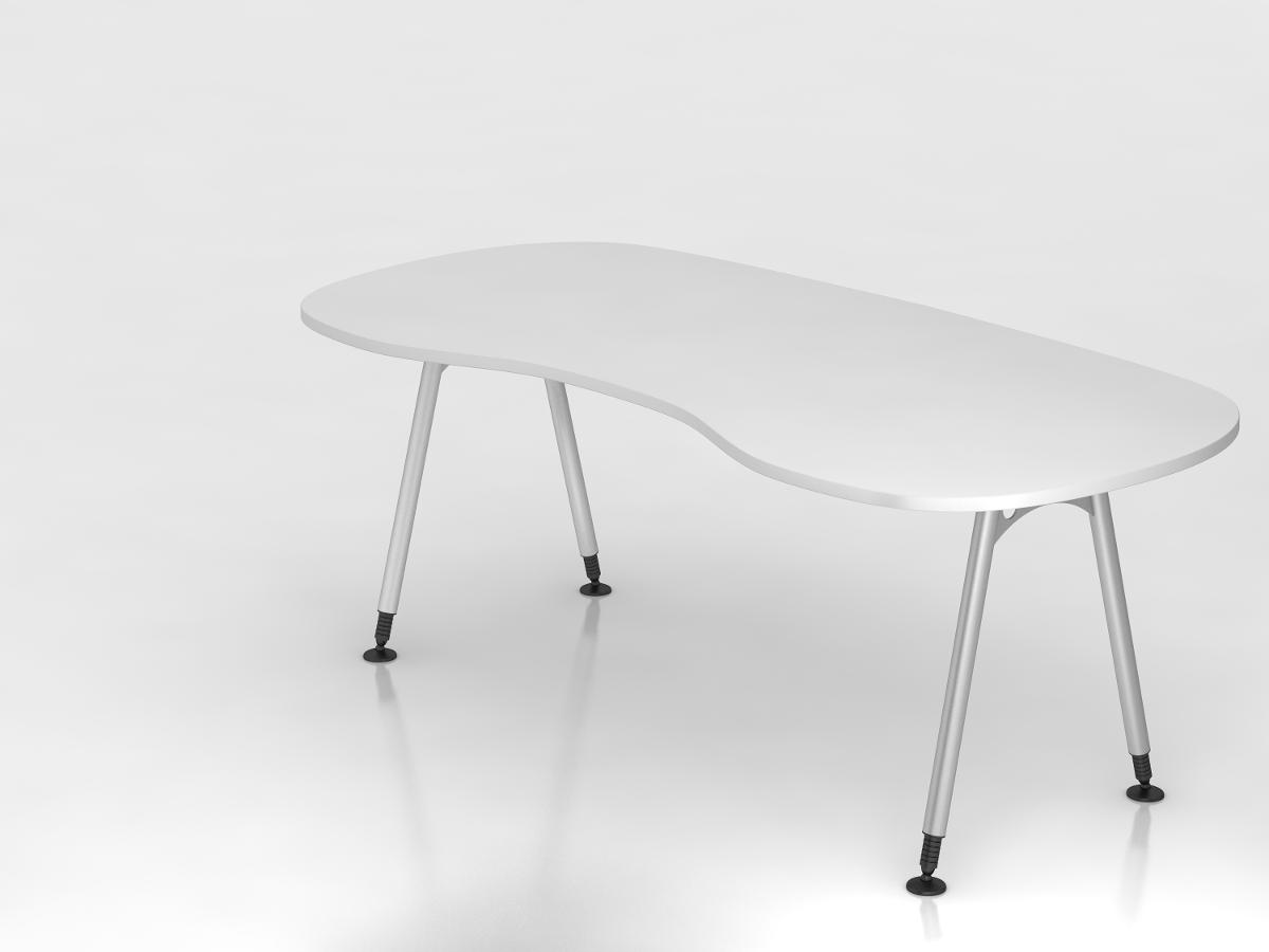 b ro schreibtisch nierenform h henverstellbar. Black Bedroom Furniture Sets. Home Design Ideas