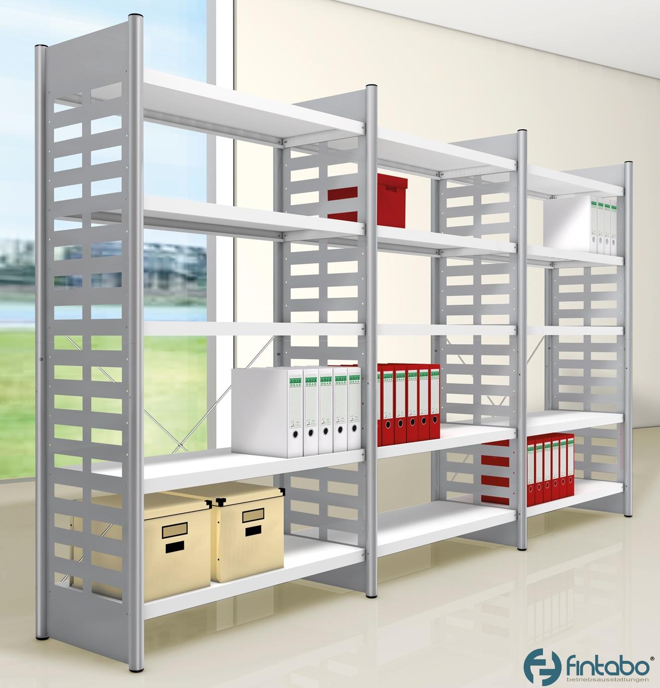 design b roregal 2 2m hoch mit 5 b den g nstig. Black Bedroom Furniture Sets. Home Design Ideas