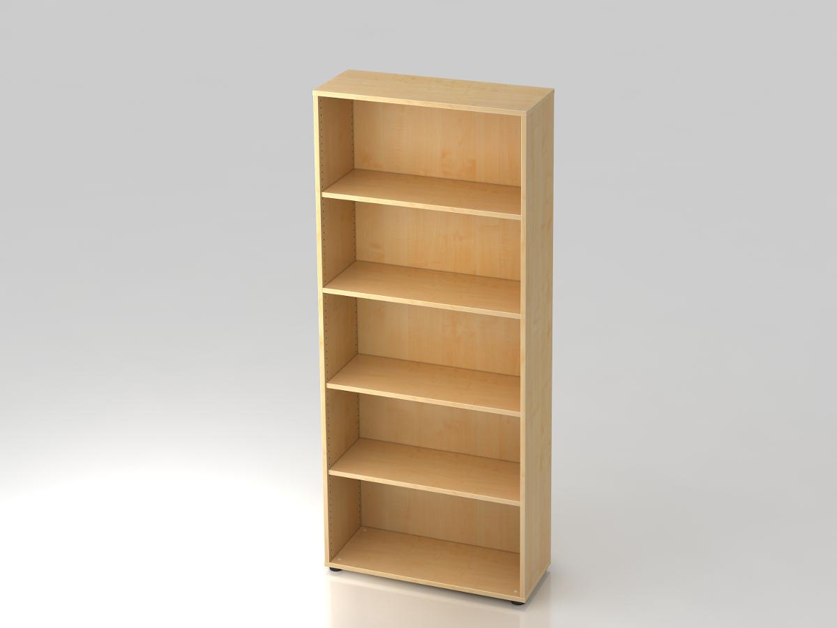 Büroschrank holz  Büro Schrank Regal mit fünf Ordnerhöhen BC Büromöbel | Fintabo.de