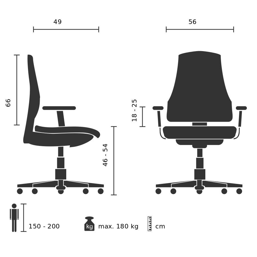 b rostuhl f r schwergewichtige bis 180kg onit b rost hle. Black Bedroom Furniture Sets. Home Design Ideas