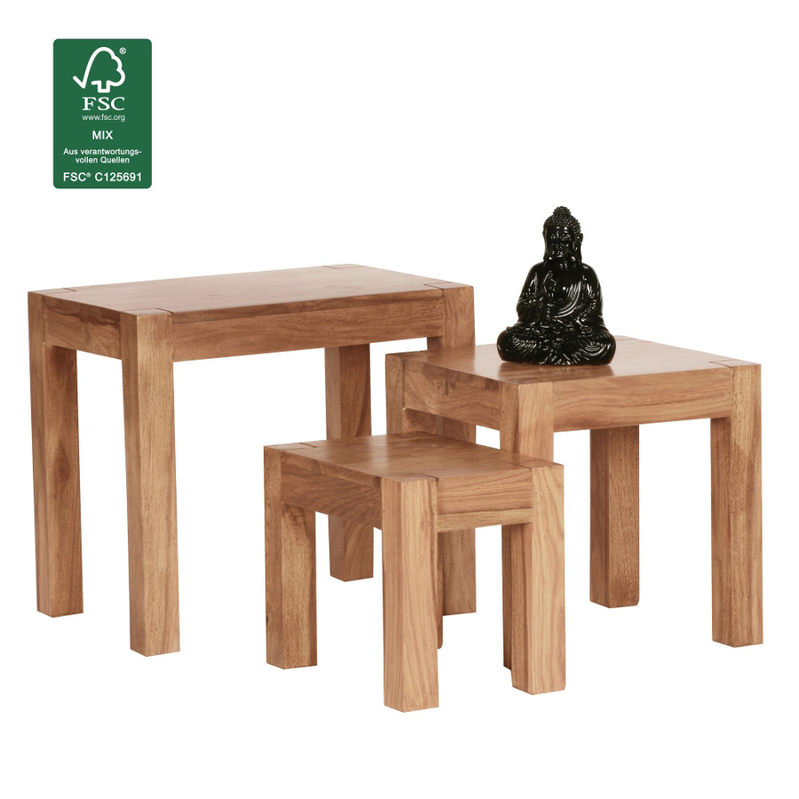 Couchtische 3er Set Moderne Massivholz Satztische Fintabo De