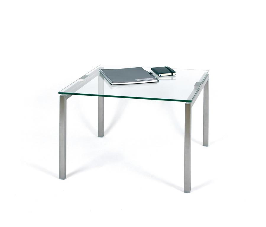 glastische 600x600mm mit edelstahlgestell von fintabo. Black Bedroom Furniture Sets. Home Design Ideas