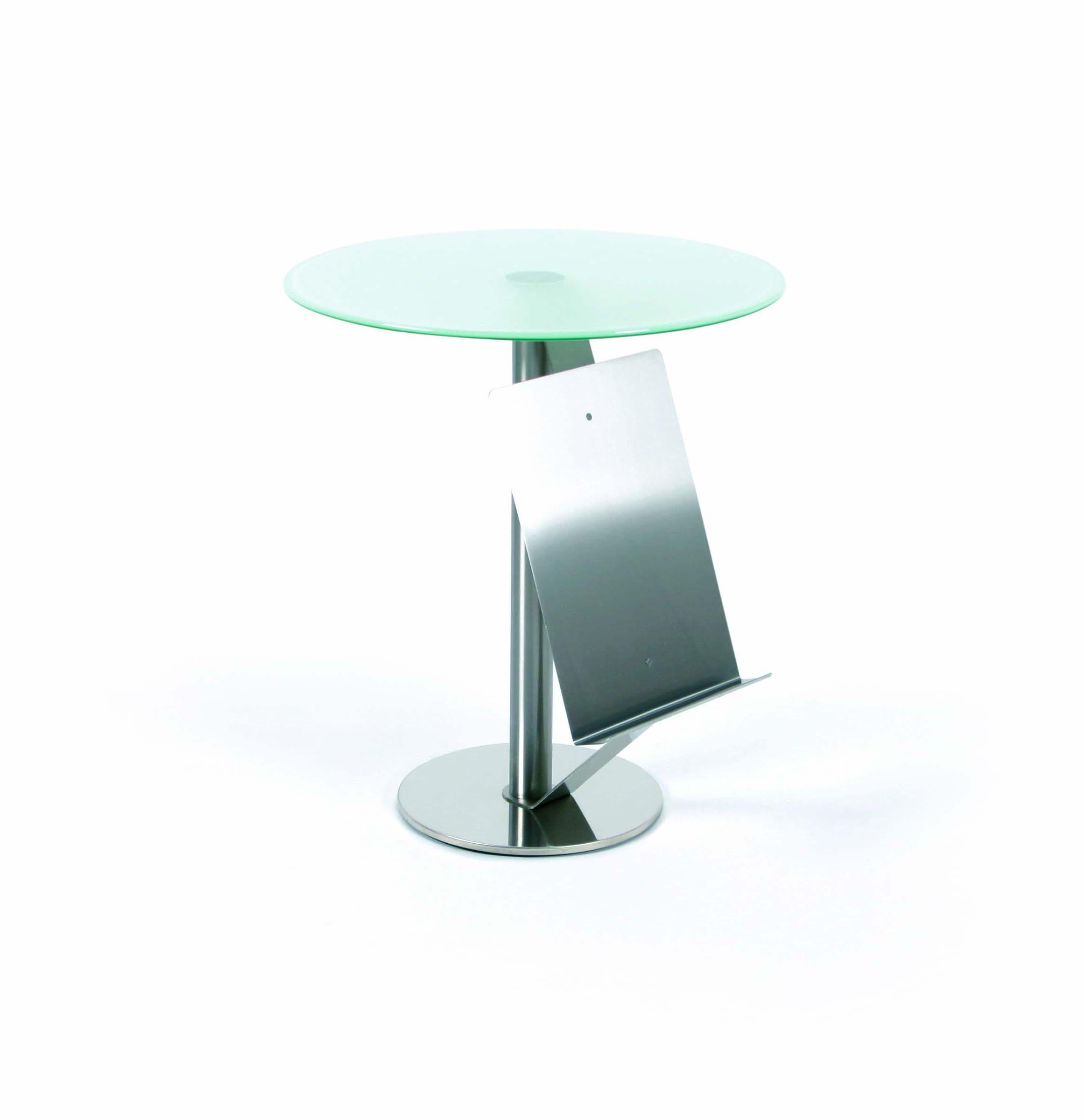 glastisch mit zeitungsablage runder glastisch. Black Bedroom Furniture Sets. Home Design Ideas