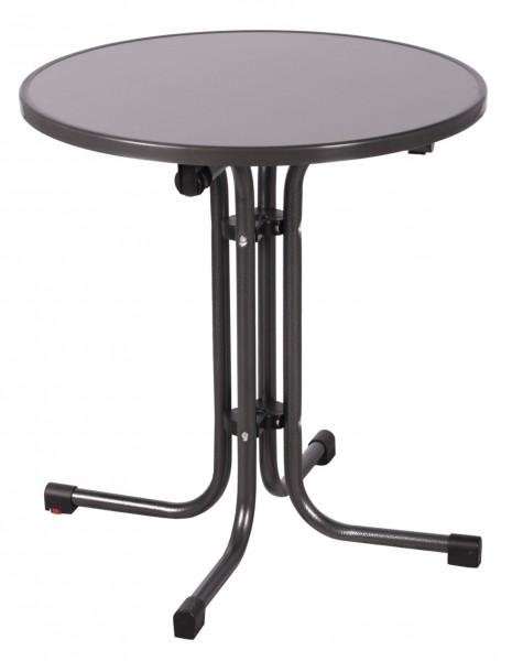 bistrotisch mit klappfunktion klapptisch tisch rund. Black Bedroom Furniture Sets. Home Design Ideas