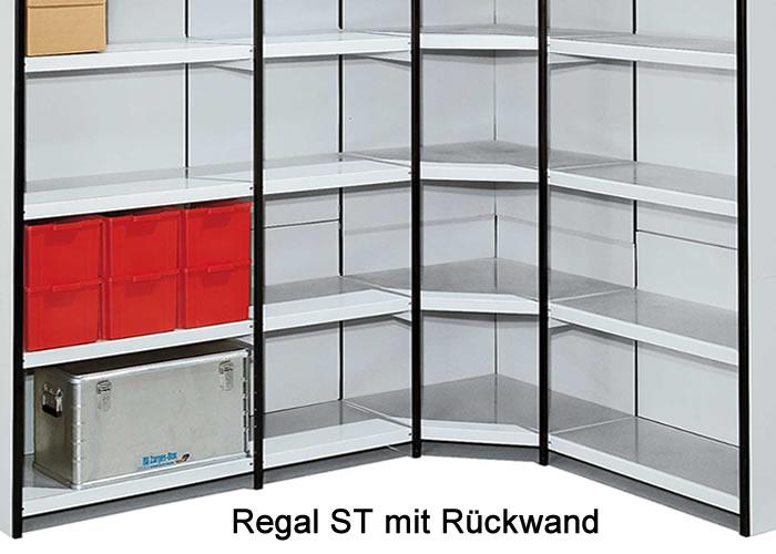 r ckwand f r metallregal st. Black Bedroom Furniture Sets. Home Design Ideas