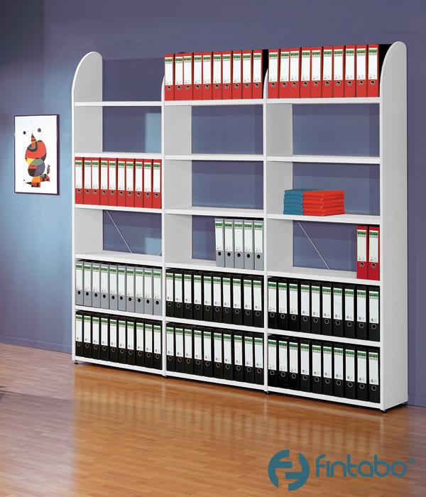 ordnerregal holz b roregal 2 6 m h he mit metallb den. Black Bedroom Furniture Sets. Home Design Ideas