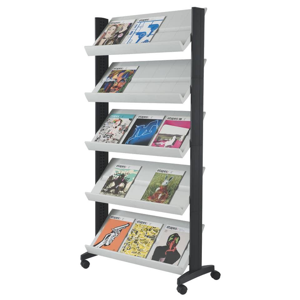 Zeitschriften Ständer prospektständer zeitschriftenständer mit rollen fintabo de