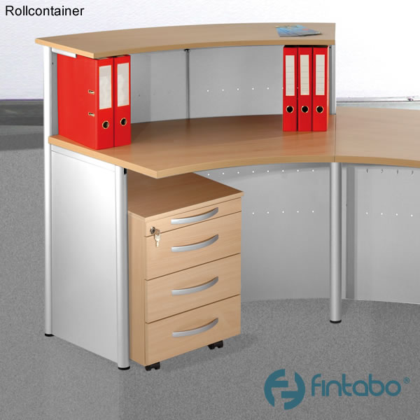 b ro rollcontainer f r empfangstheke gu. Black Bedroom Furniture Sets. Home Design Ideas