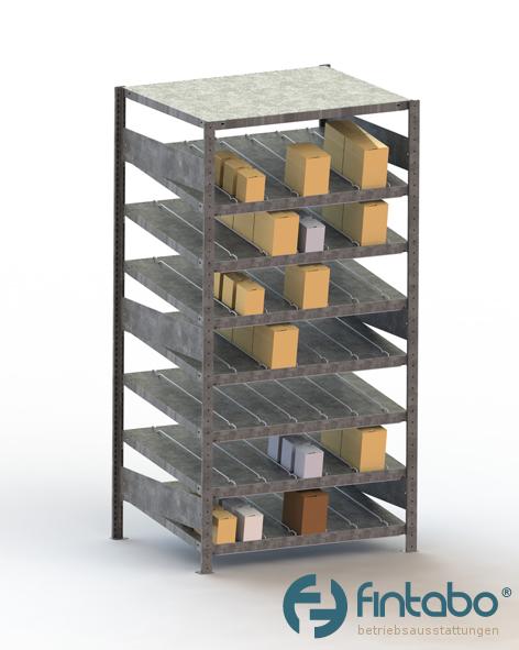 schr gbodenregal lagerregal mit schr gb den fintabo. Black Bedroom Furniture Sets. Home Design Ideas