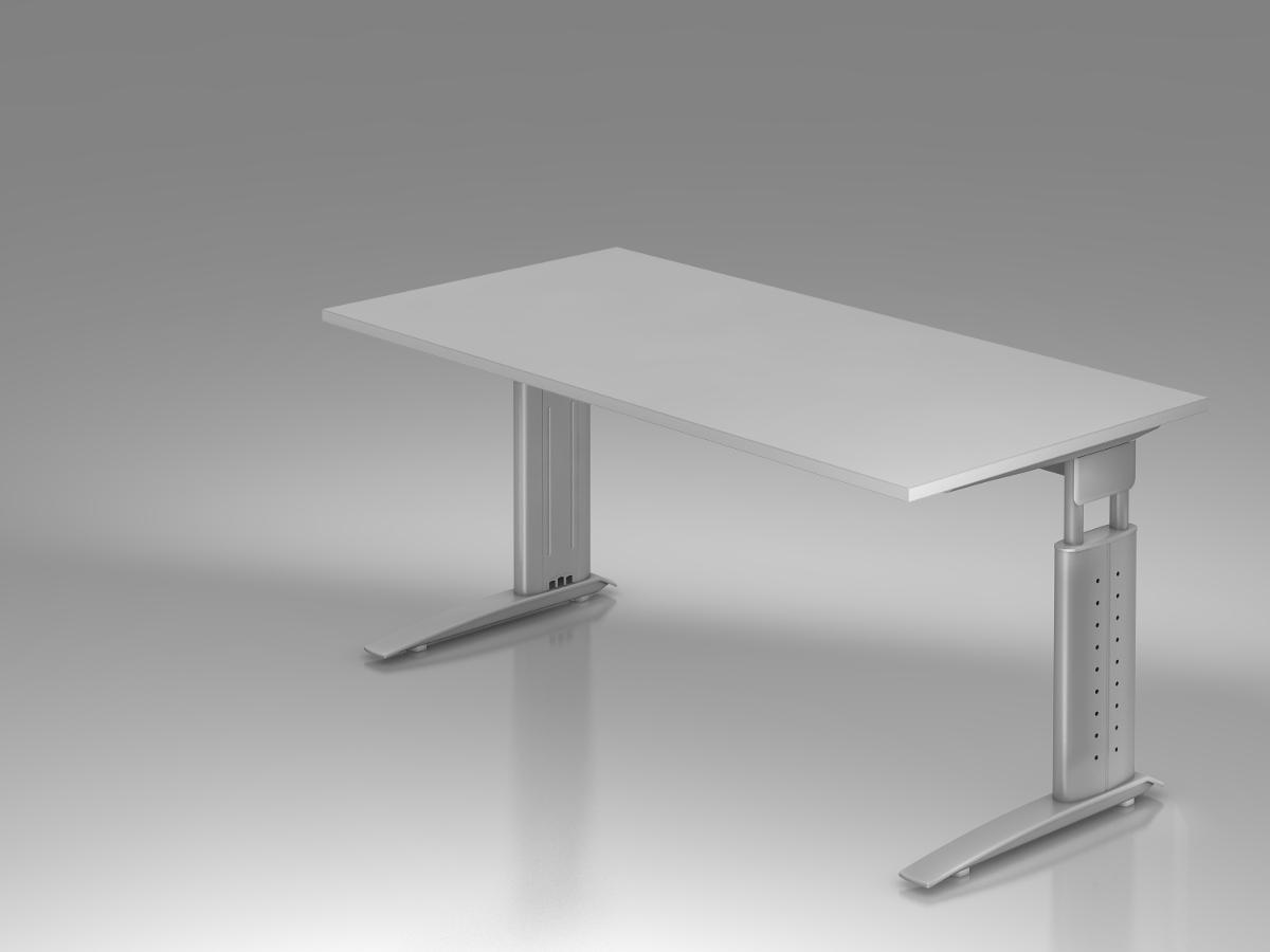 Schreibtisch h henverstellbar b ro schreibtisch for Grauer schreibtisch