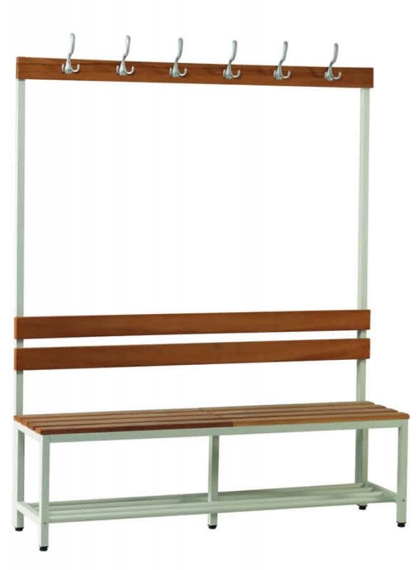 Umkleideraum Sitzbänke mit Kleiderhaken - Umkleidebänke | Fintabo.de