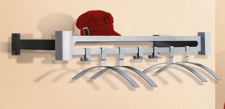 wandgarderobe garderobenleiste aus metall. Black Bedroom Furniture Sets. Home Design Ideas