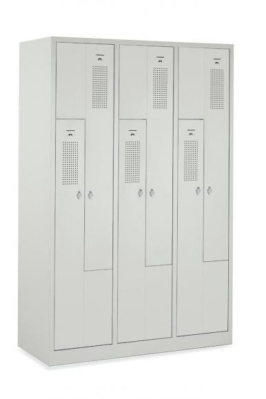 Z-Spind mit sechs Abteilen und 180° Türen | Fintabo.de