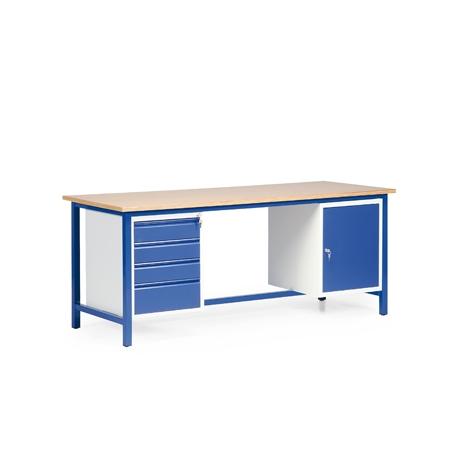 arbeitstisch mit schubladen u schrank direkt von. Black Bedroom Furniture Sets. Home Design Ideas