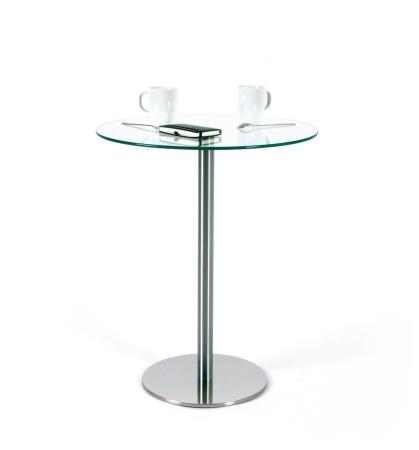 Bistrotisch 600 mm glastisch rund kaufen for Kleiner glastisch rund