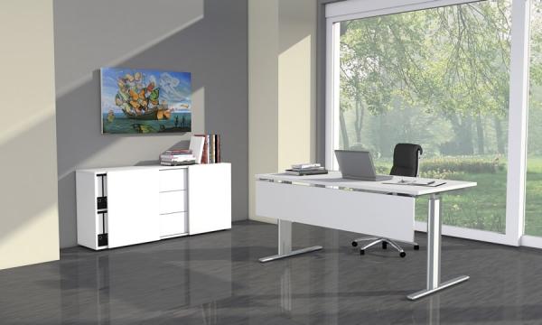 b ro sideboard mit schiebet ren 160x50x74cm bxtxh. Black Bedroom Furniture Sets. Home Design Ideas