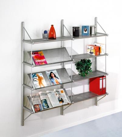 b ro wandregal f r zeitschriften u prospekte. Black Bedroom Furniture Sets. Home Design Ideas