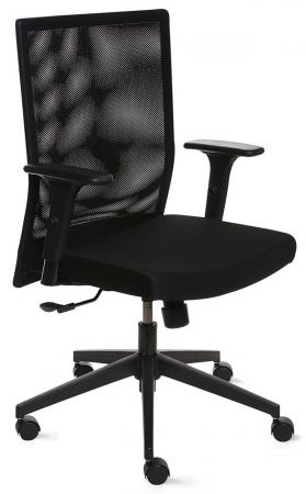 b rostuhl mit stoffbezug und netzr cken qualit t. Black Bedroom Furniture Sets. Home Design Ideas