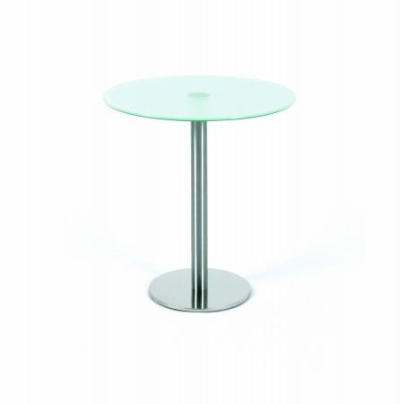 Glastisch rund / Beistelltisch ☛ Fintabo.de
