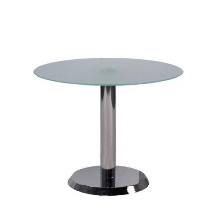 runder glastisch mit satiniertem glas kaufen. Black Bedroom Furniture Sets. Home Design Ideas