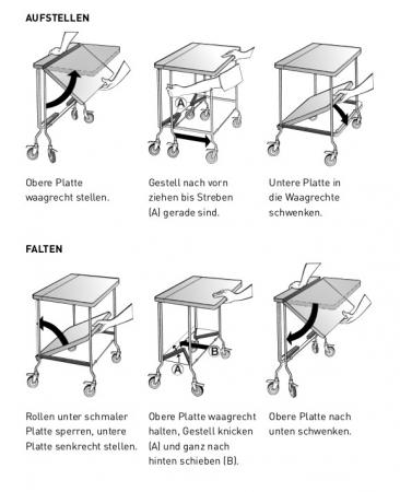 Klappbarer Tisch fahrbar Modell ,,Butterfly Mooreiche,,