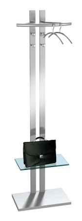 moderner kleiderst nder aus metall mit glasablage. Black Bedroom Furniture Sets. Home Design Ideas