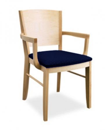 massivholz besucherst hle mit armlehne online kaufen. Black Bedroom Furniture Sets. Home Design Ideas