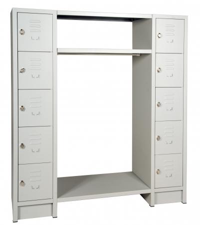 Metall garderobe schrankf cher g nstig for Garderobe ablage metall