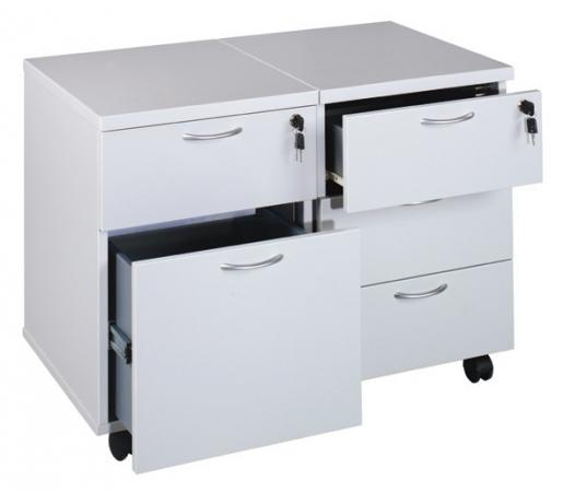 schreibtisch rollcontainer luna 100 im b ro. Black Bedroom Furniture Sets. Home Design Ideas