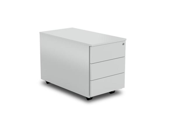schreibtisch rollcontainer mit drei schubladen. Black Bedroom Furniture Sets. Home Design Ideas